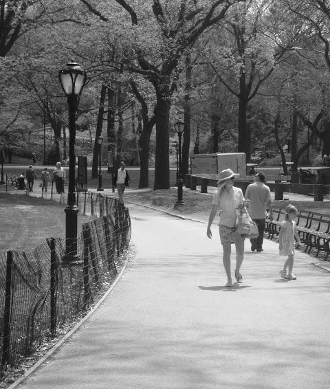 Central Park en blanco y negro