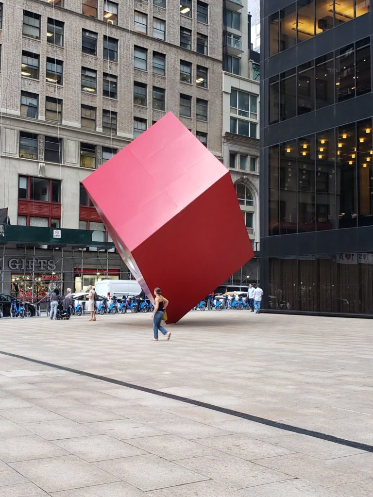 The Red Cube, Financial District, Manhattan