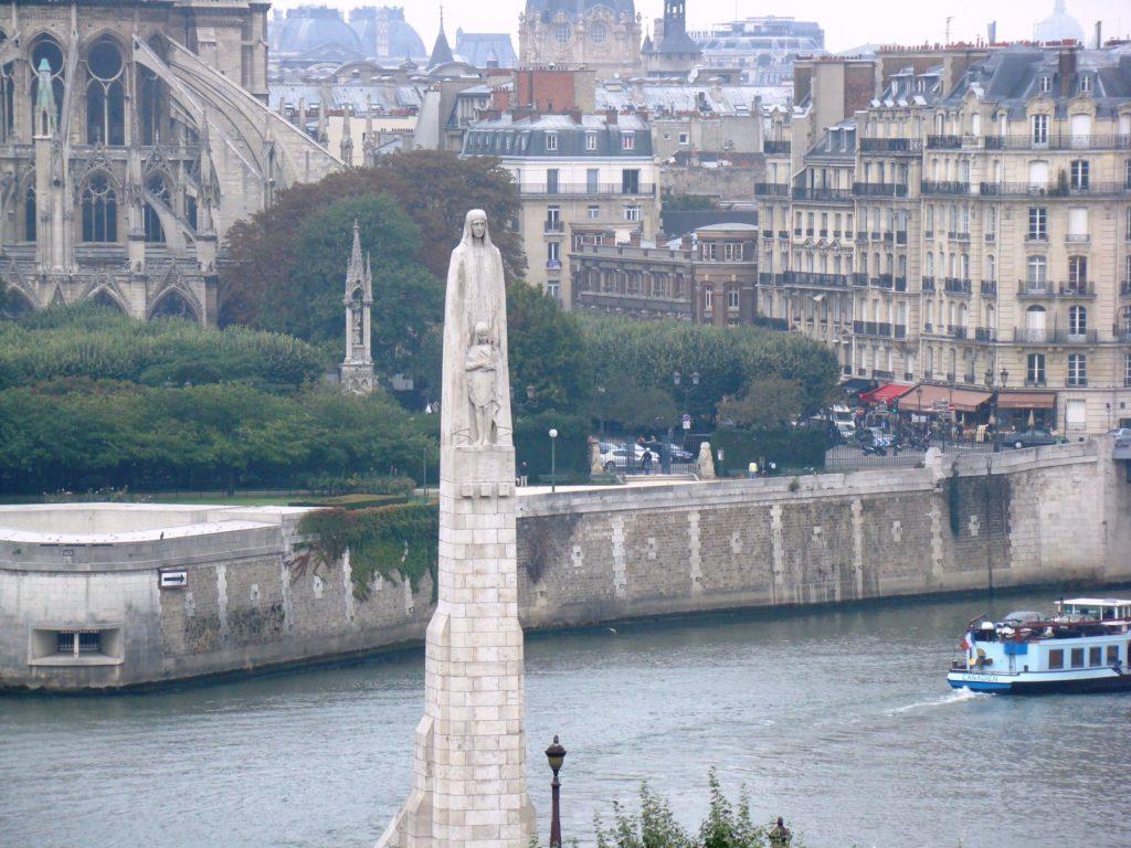 El Sena y Notre Dame desde Terraza panorámica del IMA, París