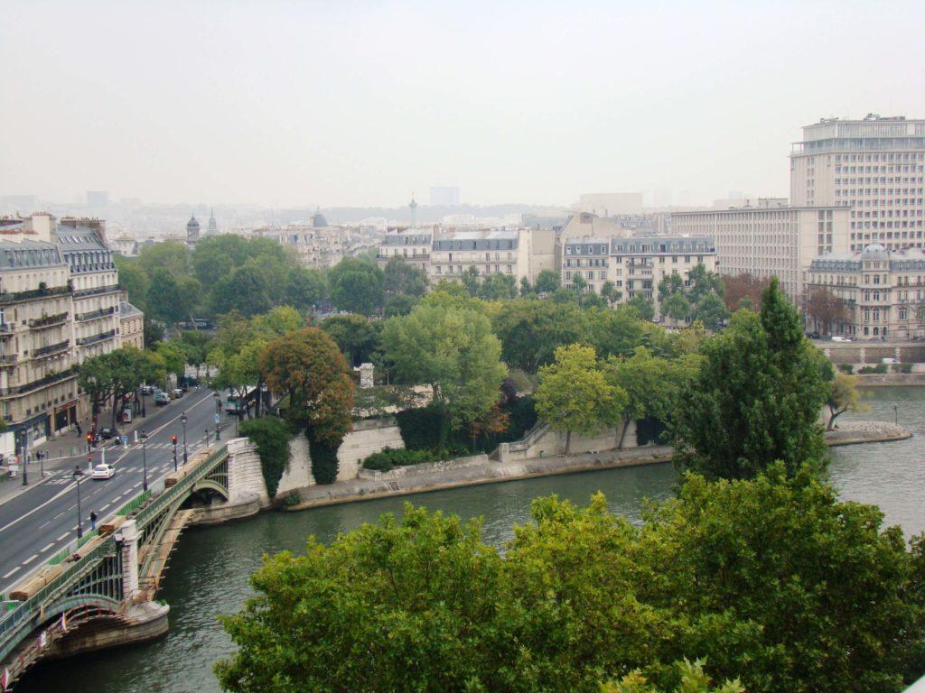 El Sena desde Terraza panorámica del IMA, París