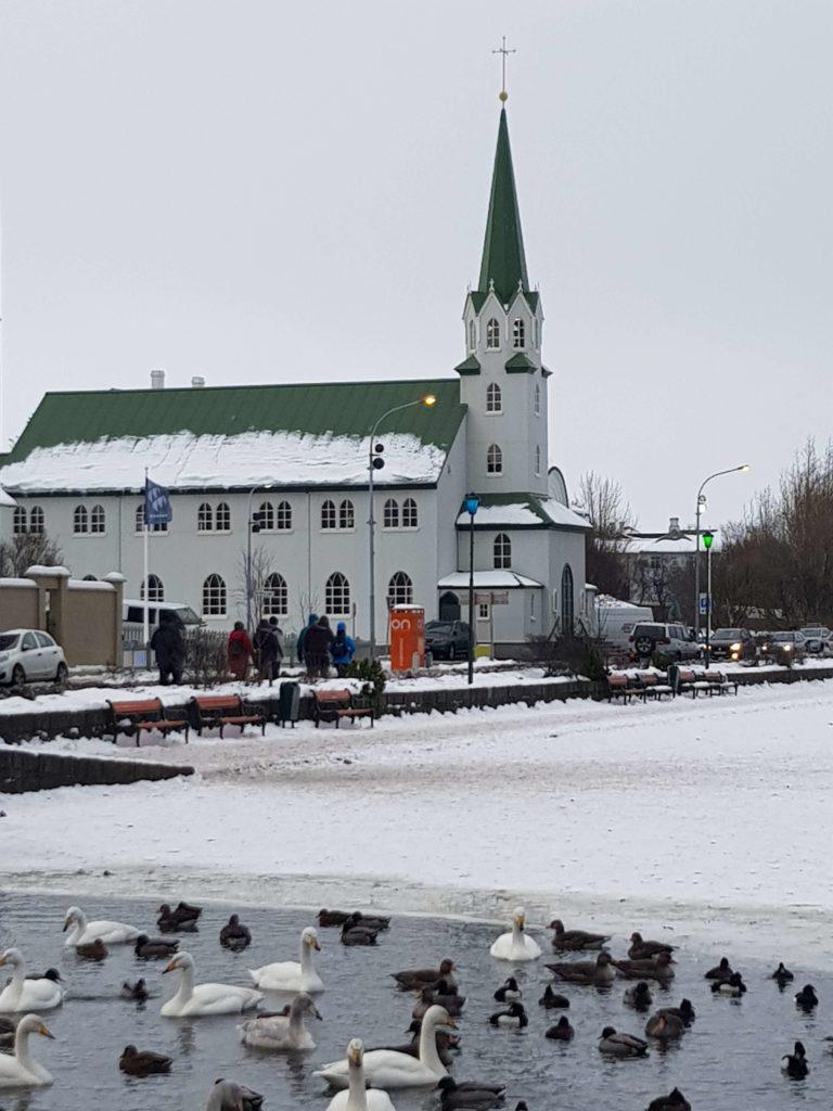 Iglesia neogótica Fríkirkjan í Reykjavík