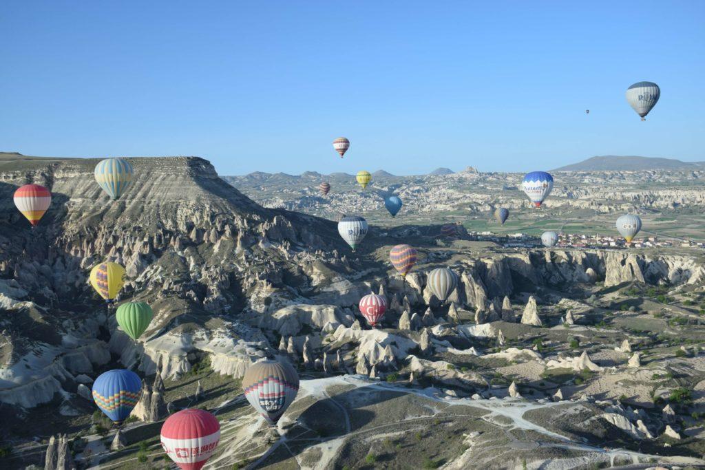 Globos sobre el Valle de Goreme, Capadocia, Turquía