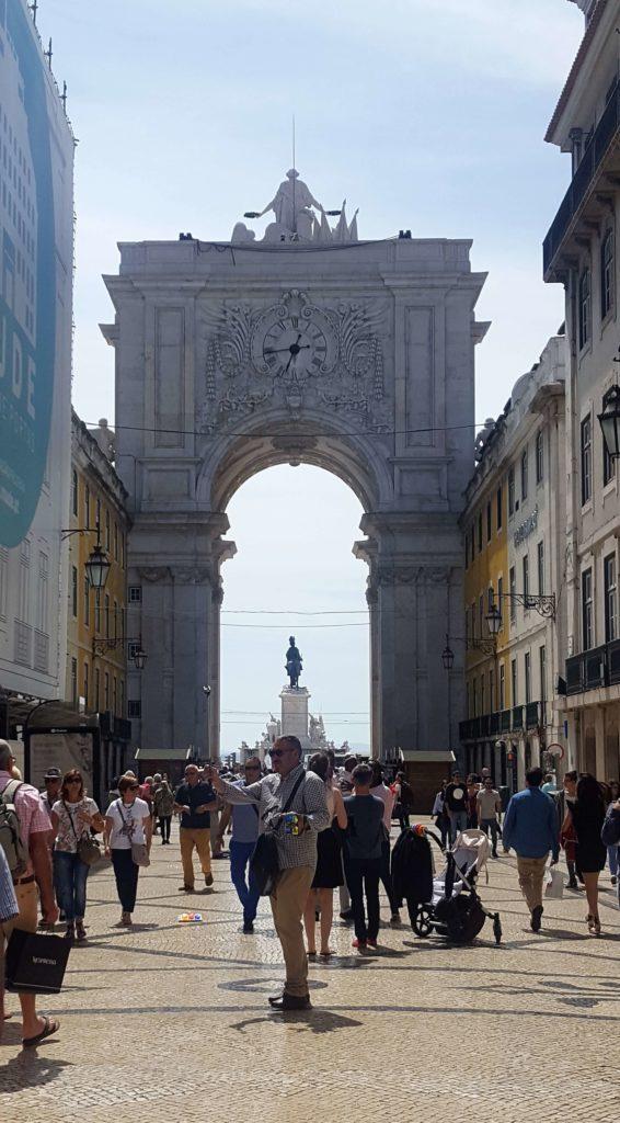 Arco Triunfal de la Rua Augusta, Plaza del Comercio o Terreiro do Paço, Lisboa