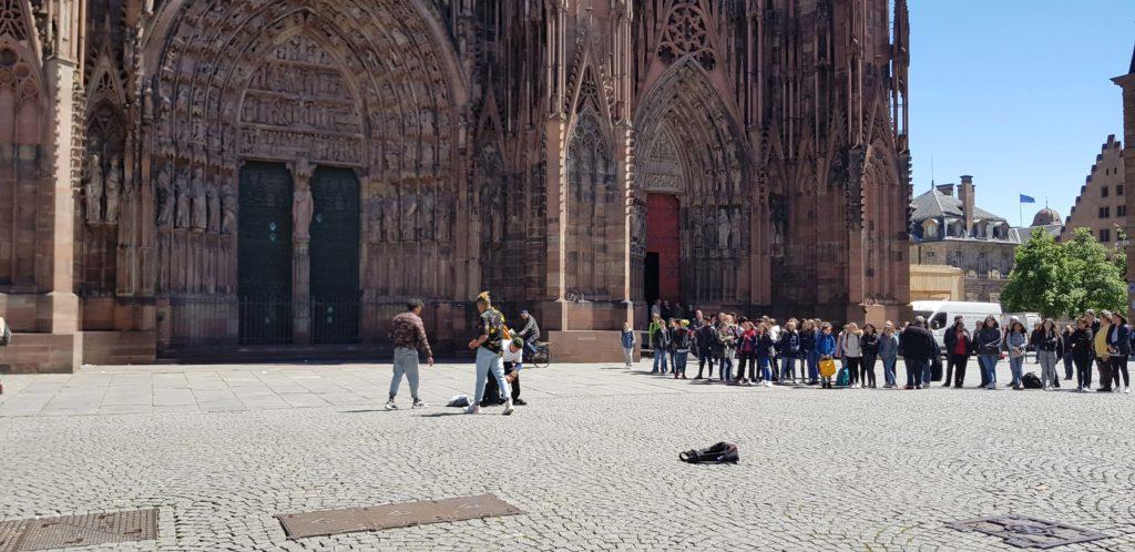 Place de la Cathedrale, Strasbourg, Alsace, France