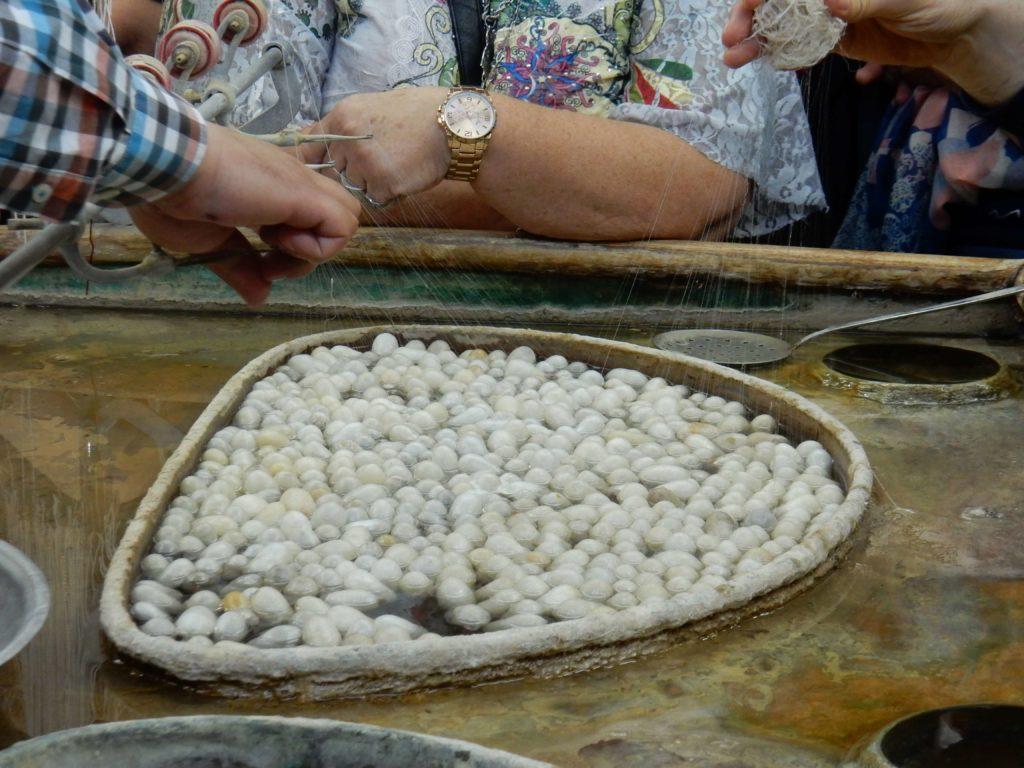 Capullos de Seda, fábrica de alfombras, Avanos, Capadocia, Turquía