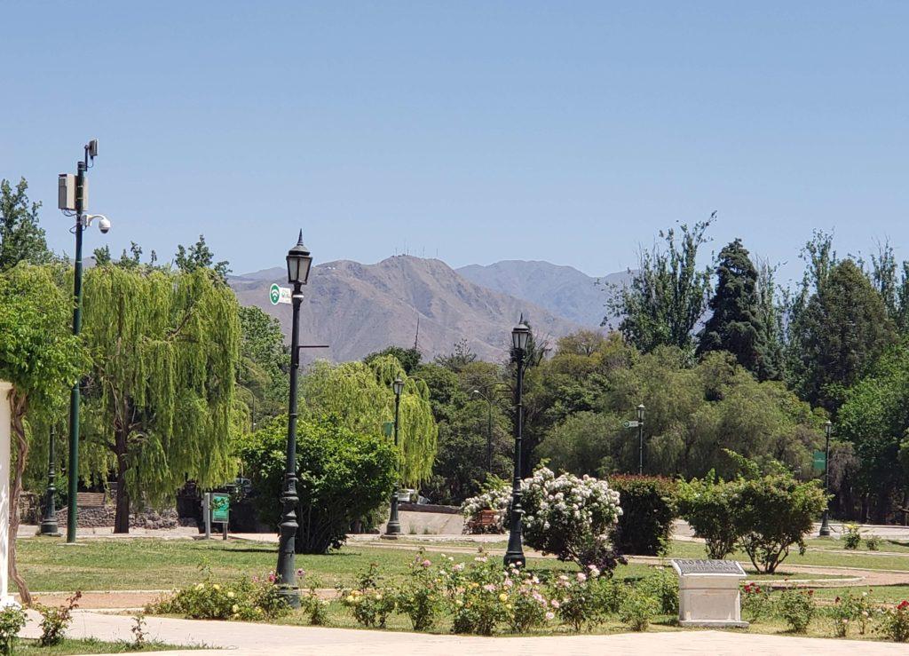 Cerro de la Gloria desde el Parque San Martín