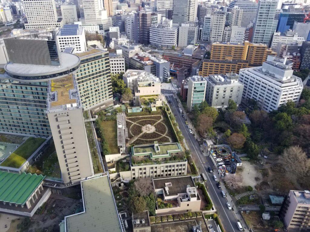 Panorama de Tokyo desde el piso 40 del Hotel New Otani