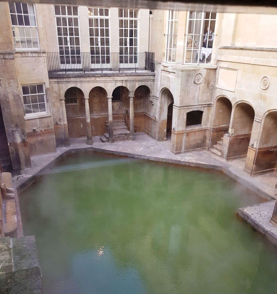Interior de Termas romanas de Bath, Inglaterra