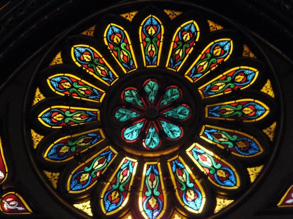 Roseta central, Basílica Notre-Dame de Montréal, Canadá