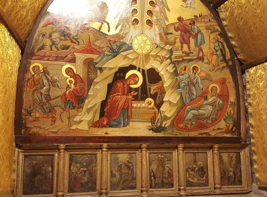 Estrella de Belén, Iglesia de la Natividad, Lugar donde nació Jesús, Belén, Israel
