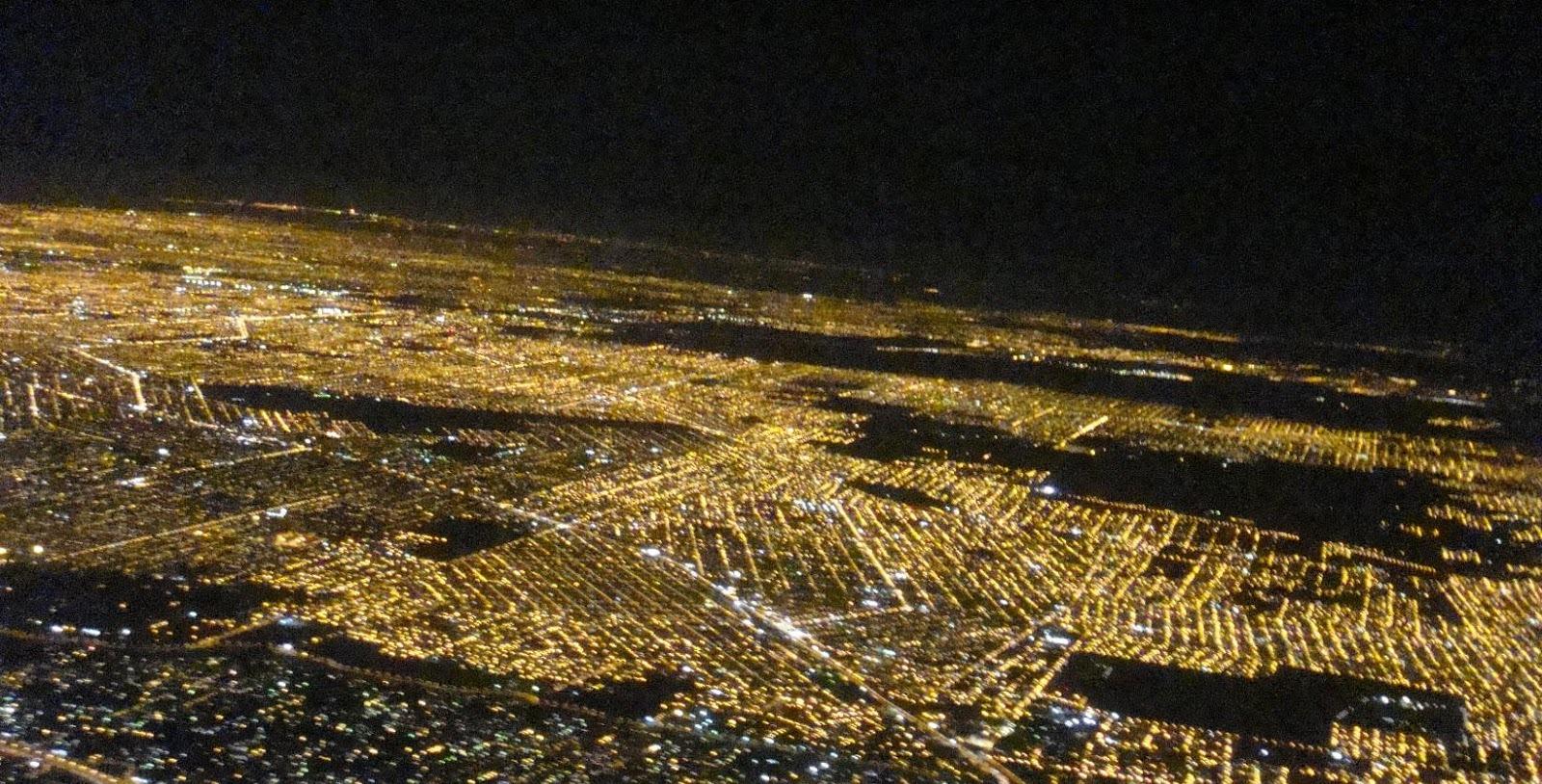 Fotos aéreas nocturnas de Buenos Aires