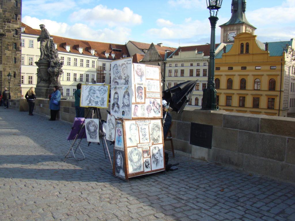 Pintores en el Puente de Carlos, Praga