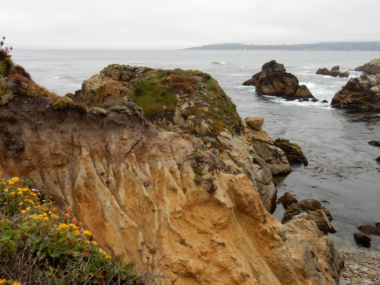 Mar agitado en Point Lobos, California