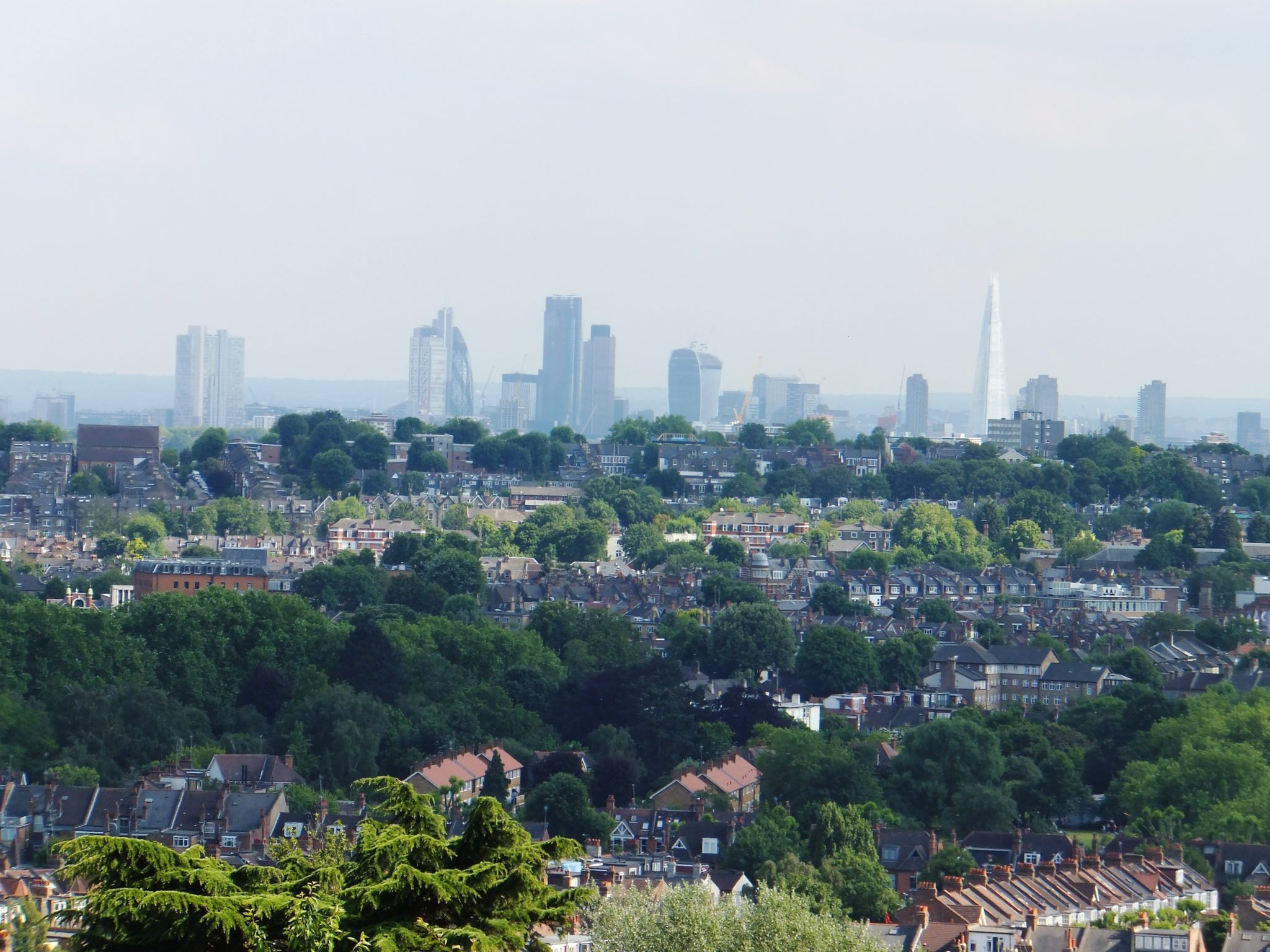 Alexandra Park. Londres desde Muswell Hill
