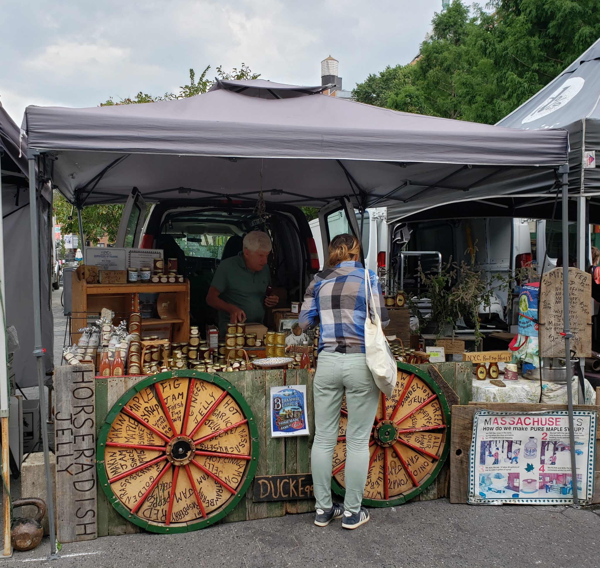 De compras en el Union Square Greenmarket
