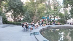 Anduve por el Madison Square Park