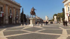 Piazza del Campidoglio, próxima al ayuntamiento