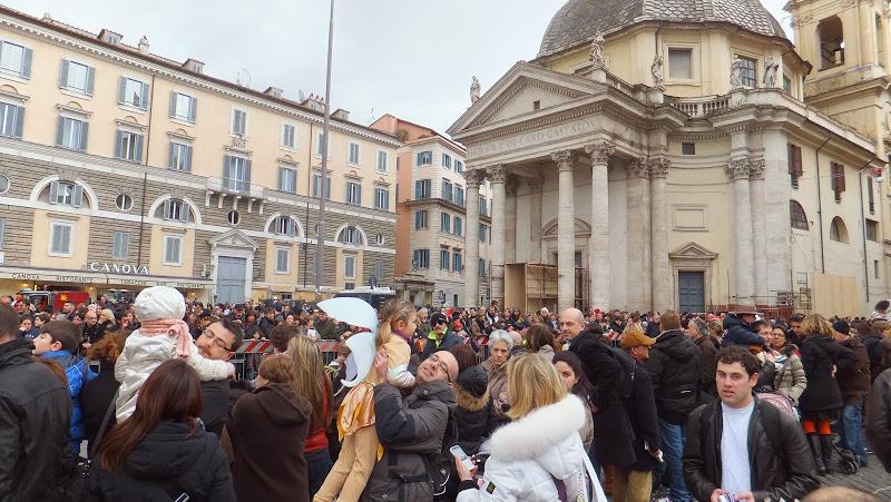 Piazza del Popolo, una plaza ocupada por la gente