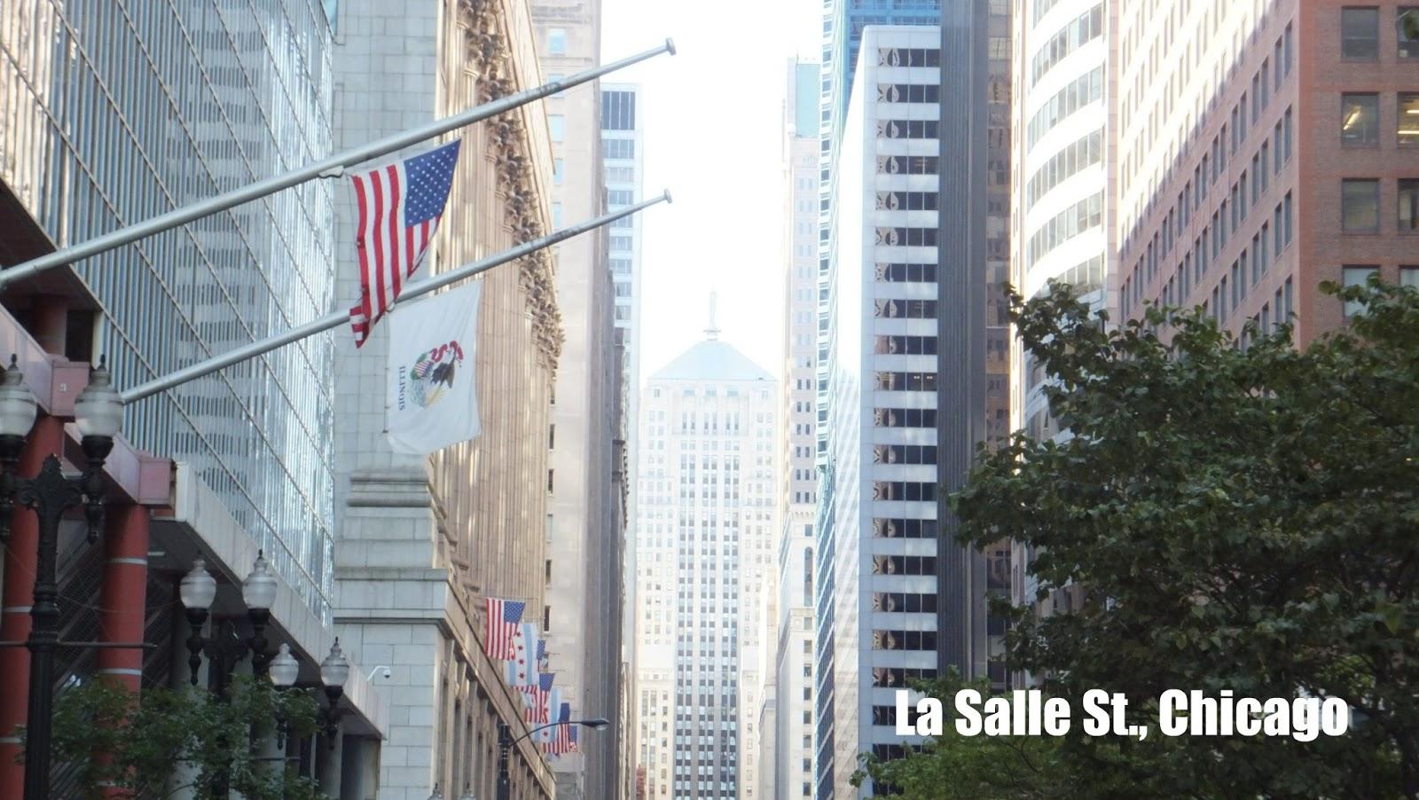 Sueño de una tarde de verano en La Salle St. en Chicago