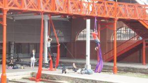 Acrobacia en el Puente de las Telas