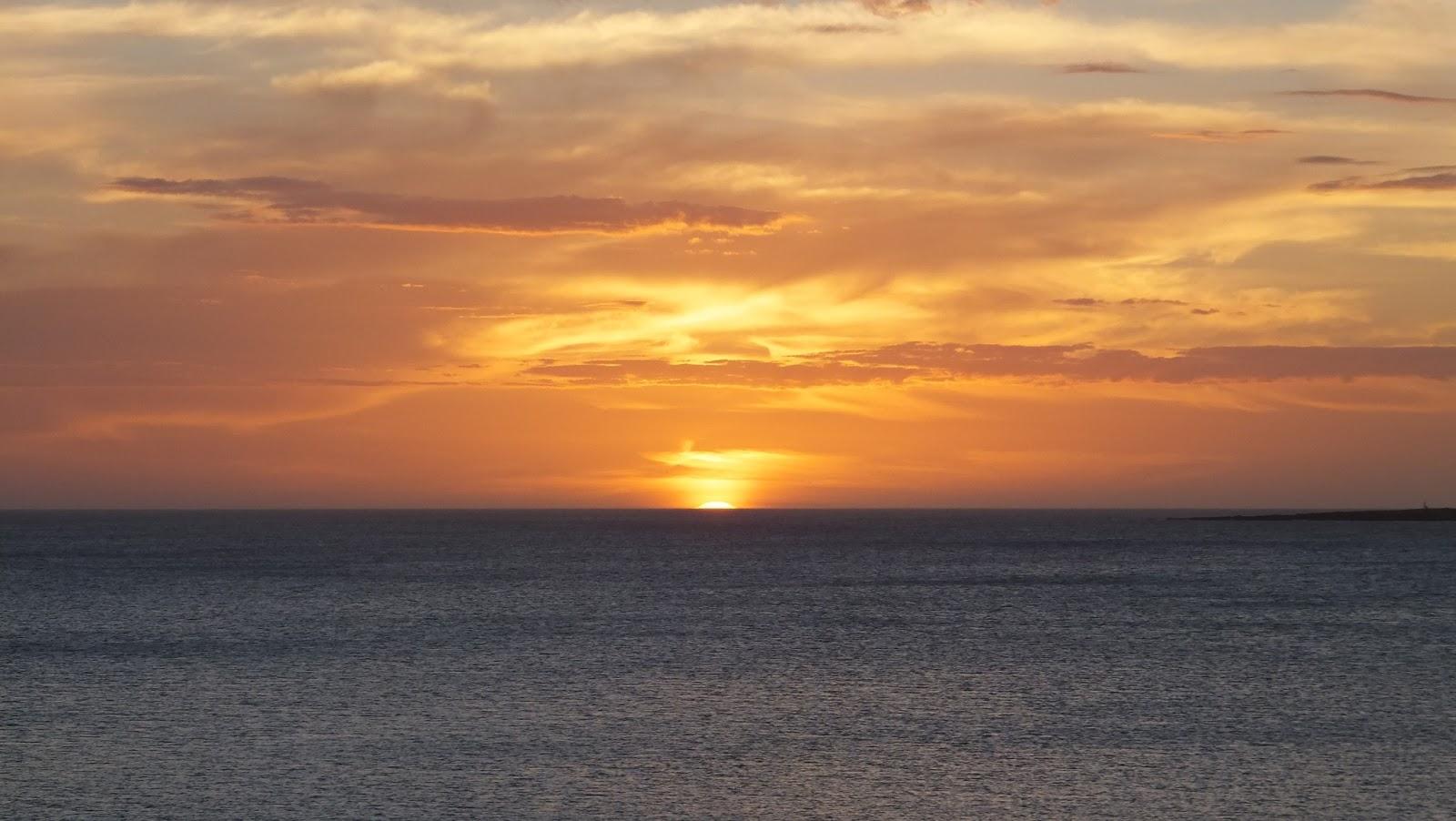 Puesta del sol en la Rambla Williman