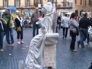 Piazza Navona cuando se termina el fin de semana