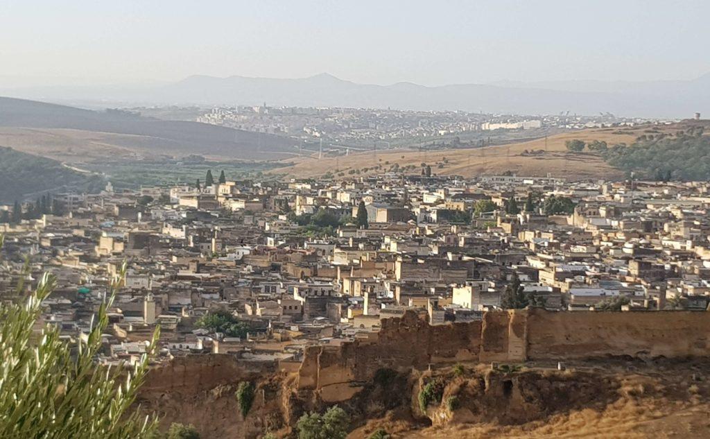 Panorama de Fez desde la colina de las Merinides