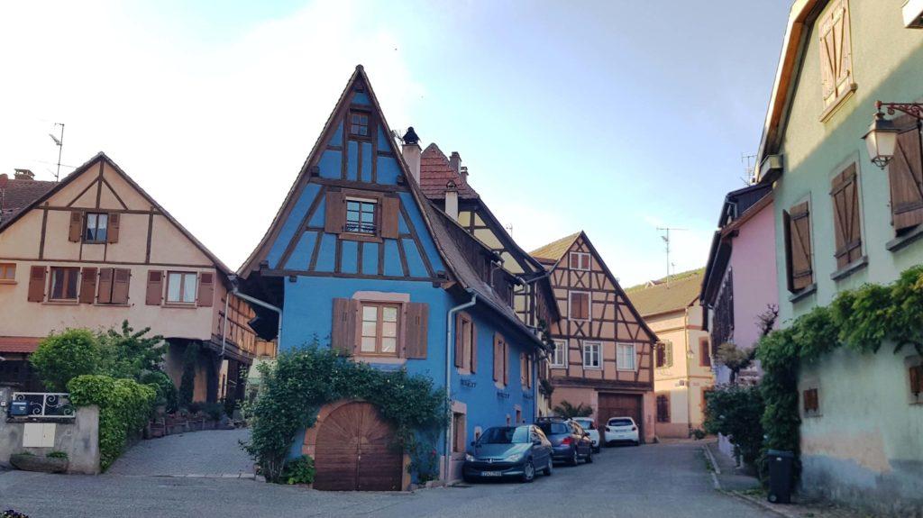Casas de entramado, Saint-Hippolyte, Alsace, Francia