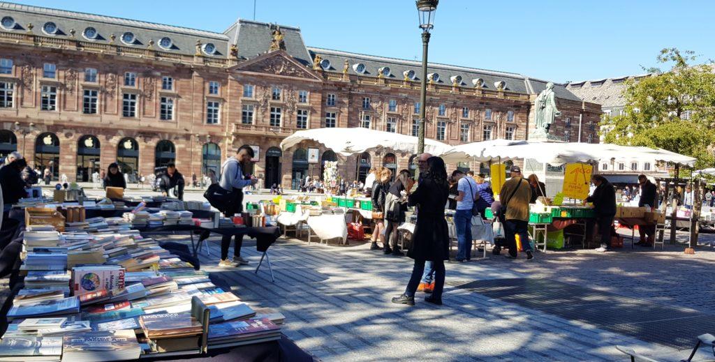 Bouquinistes, Place Kléber, Strasbourg