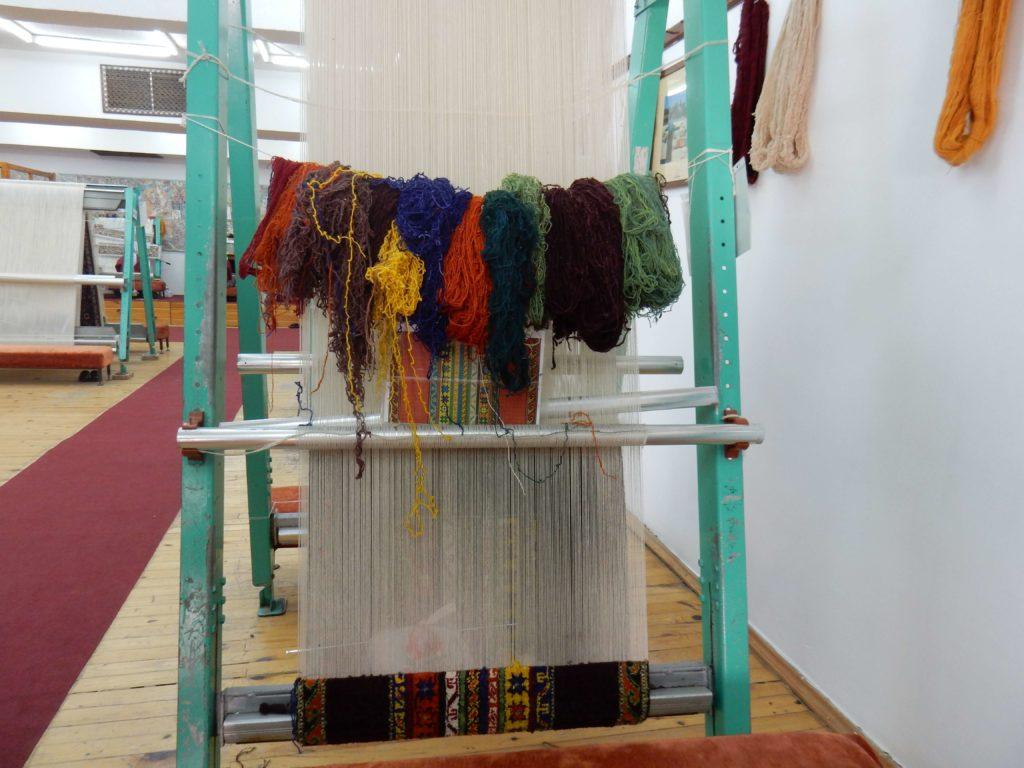 Telar, fábrica de alfombras, Avanos, Capadocia