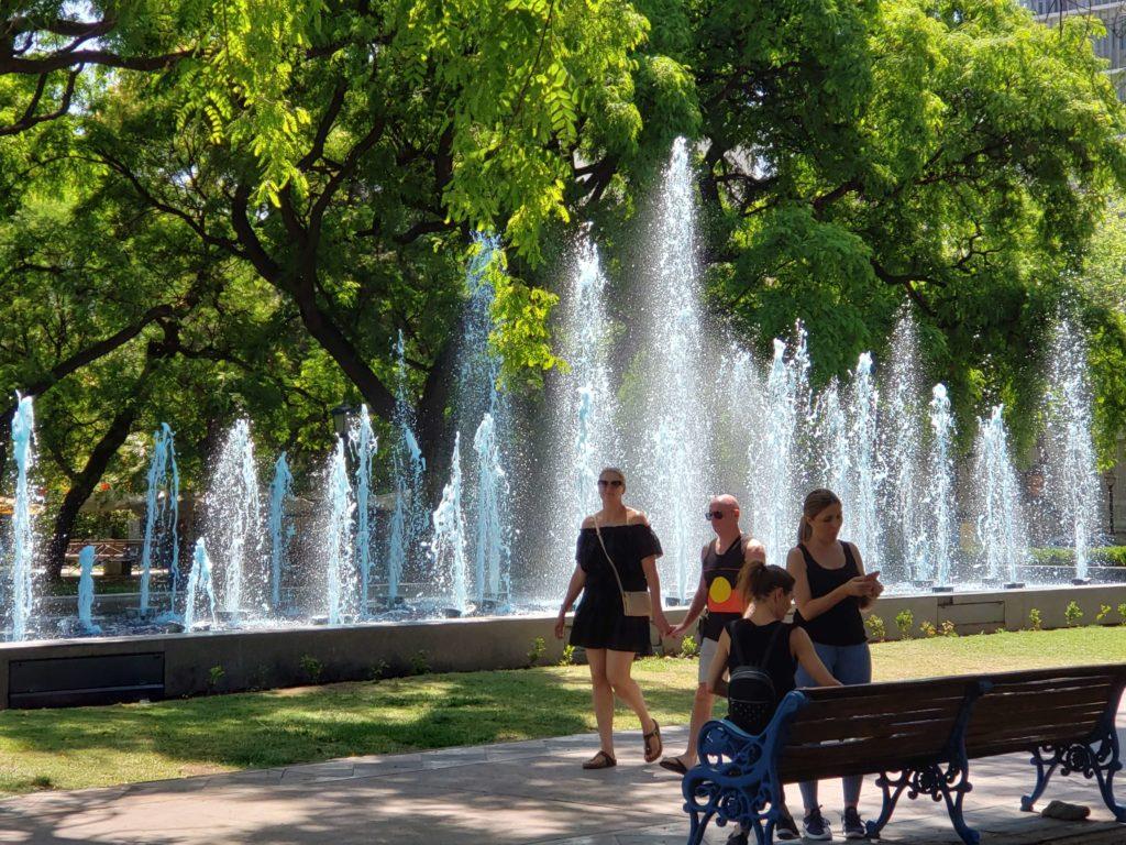 Fuente de colores, Plaza Independencia, Mendoza