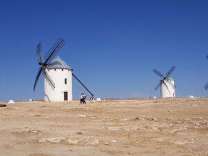 Entre los molinos de Don Quijote en los Campos de Criptana