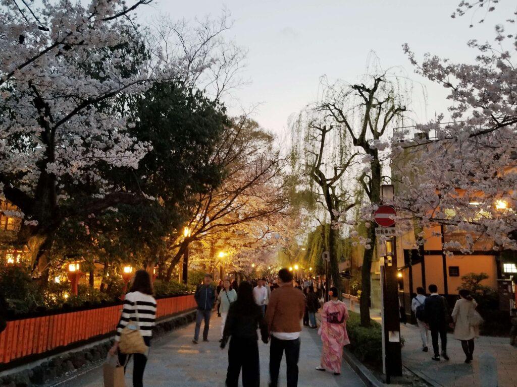 Calles de Gion, barrio de geishas en Kyoto