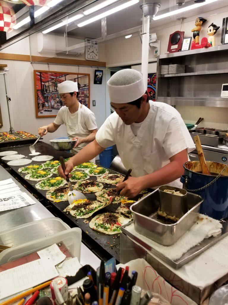 Okonomiyaki en Gion